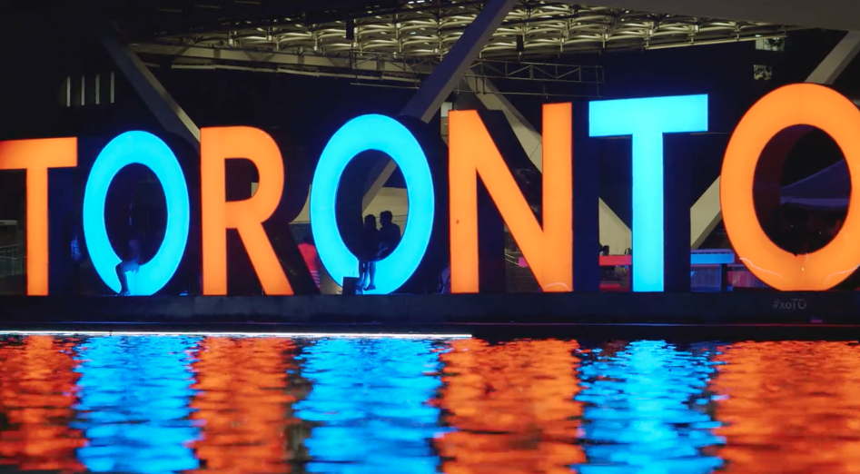 Time Lapse of Toronto Sign